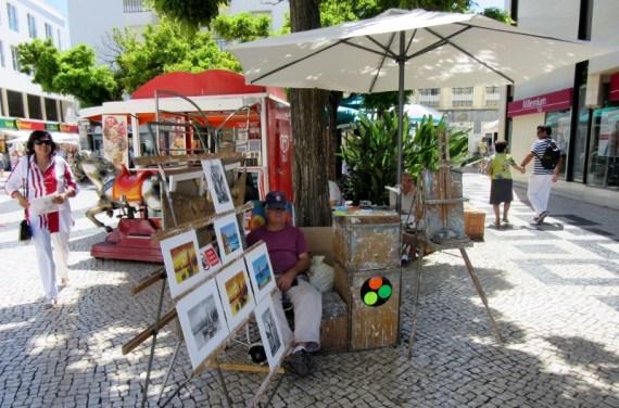 cobblestoned streets, Lagos, Portugal