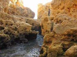 limestone cliffs, Carvoeira, Portugal