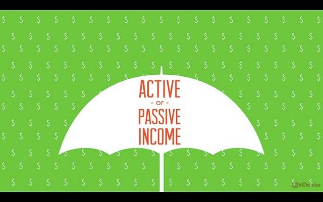 revenu actif ou passif