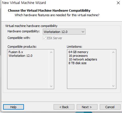 Vmware 버추얼 머신 생성3