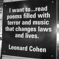 Leonard Cohen. Donald Trump.