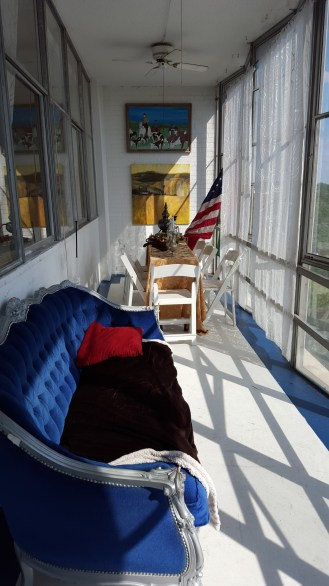 The deck of the Buckhead apartment we rented in Atlanta