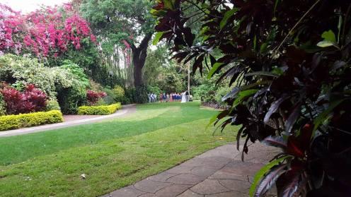 Hilary and Brighton's wedding at Sunken Gardens