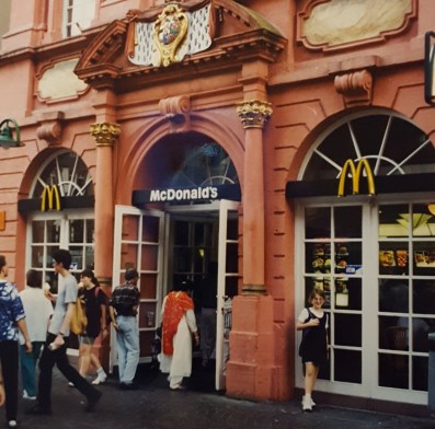 The fanciest McDonald's I've ever seen, where two happy meals cost us $17 in 1996.