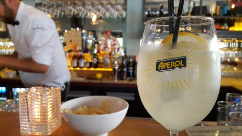 Delicious drinks at a nice Italian restaurant here in den Haag