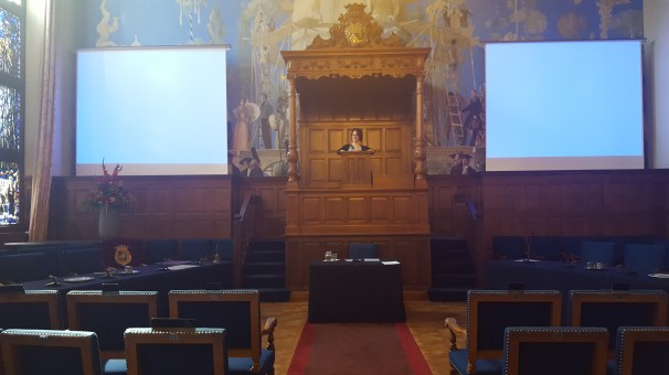 The room where PhD students give their dissertations to public audiences!