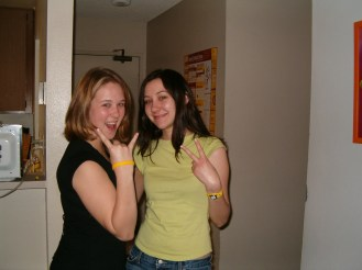 Me and K in her LA apartment, circa March 2005