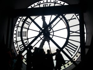I take picture of clock.  (Musee D'Orsay)