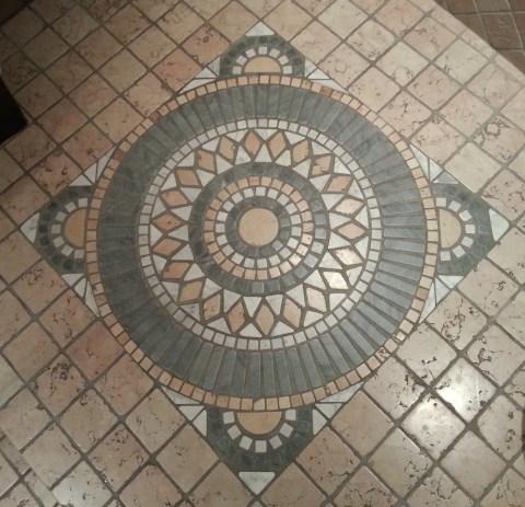 Tile in the bathroom.