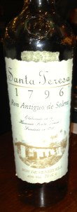 Santa Teresa 1796 rum from Venezuela.
