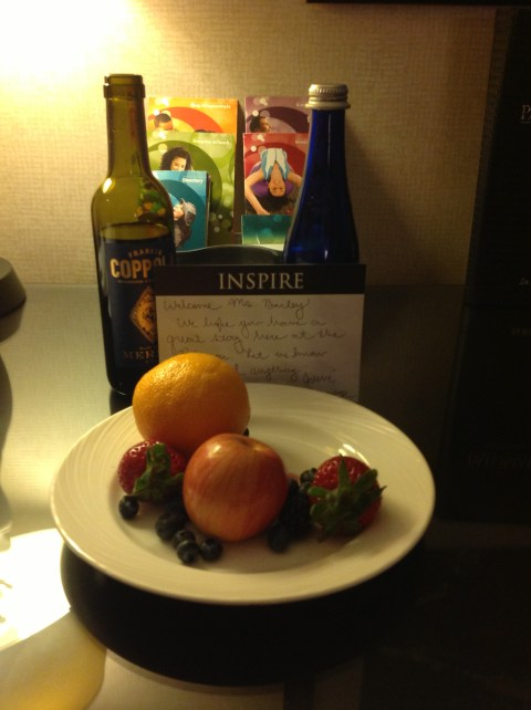 Fruit and a note even in our absence.
