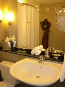 Kimpton bathrooms have high quality fixtures.