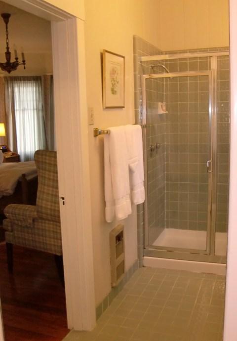 Cowper shower in 31 (needs a new showerhead).