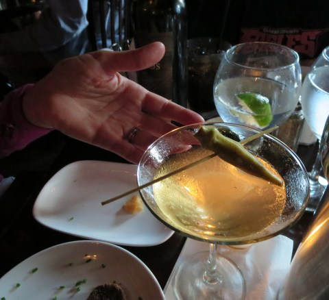 Okra martini (pickled) from Circa 1922