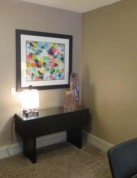 The new model room has stuff in the corner.