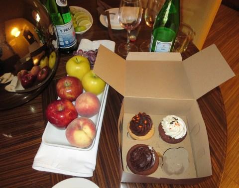 Cupcakes and san pellegrino!