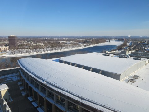 Frozen tundra from the Concierge Lounge.