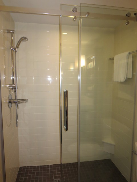 this shower is not plastic