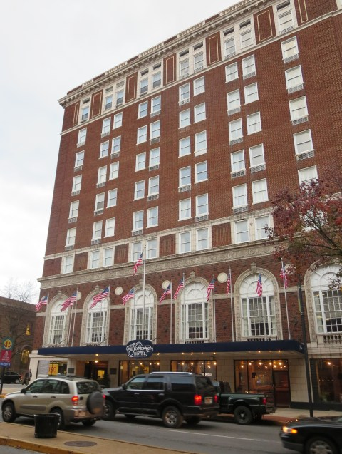 The Yorktown Hotel was imposing when it was built in 1925