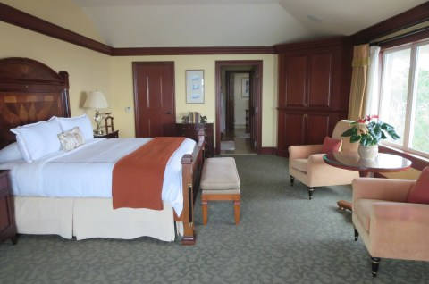 The bedroom portion of the Presidential Suite