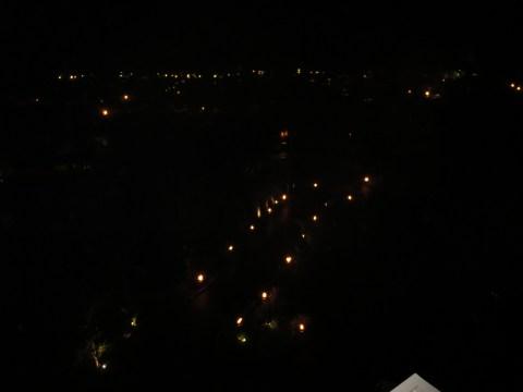 Night from the balcony.