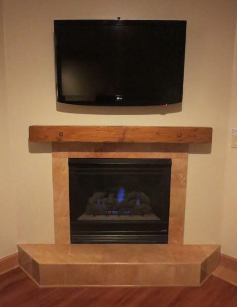 Fireplace and TV shrine
