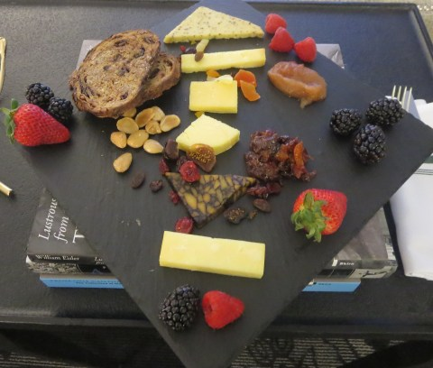 Fruit and cheese, artfully displayed