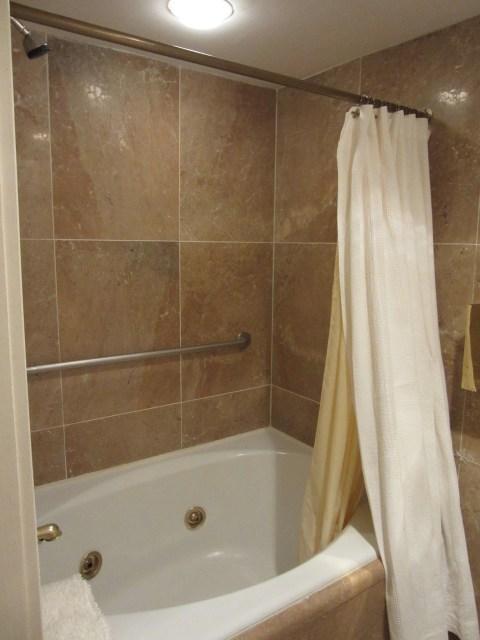 Big giant hot tub thing but it has a shoer curtain (wah wah waaaaah)