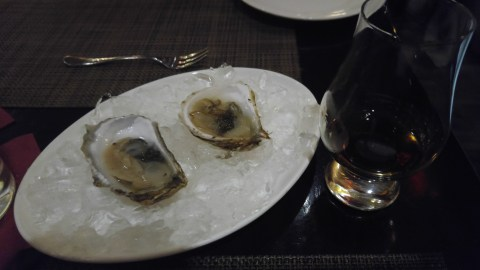Oysters with Caviar at Craigie on Main