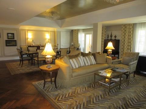 Living area: Suite 4500, The Broadmoor