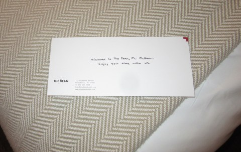 Personal note is always a nice touch, but where is my cheese?