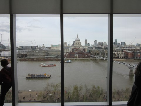 View from the 6th floor cafe of the Tate