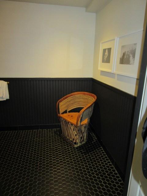 Extra chair in the bathroom?  OK
