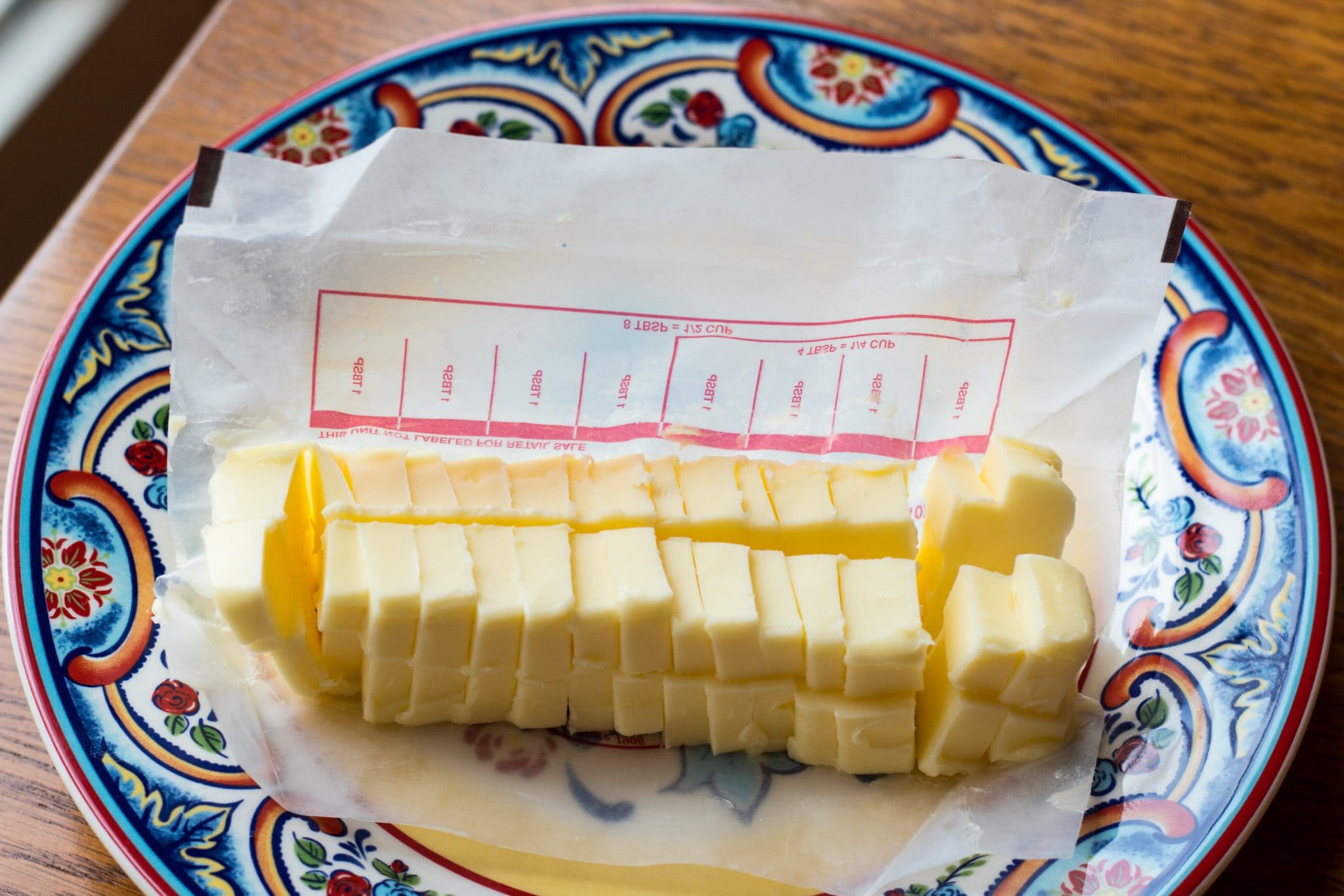 Salted butter cut into small cubes