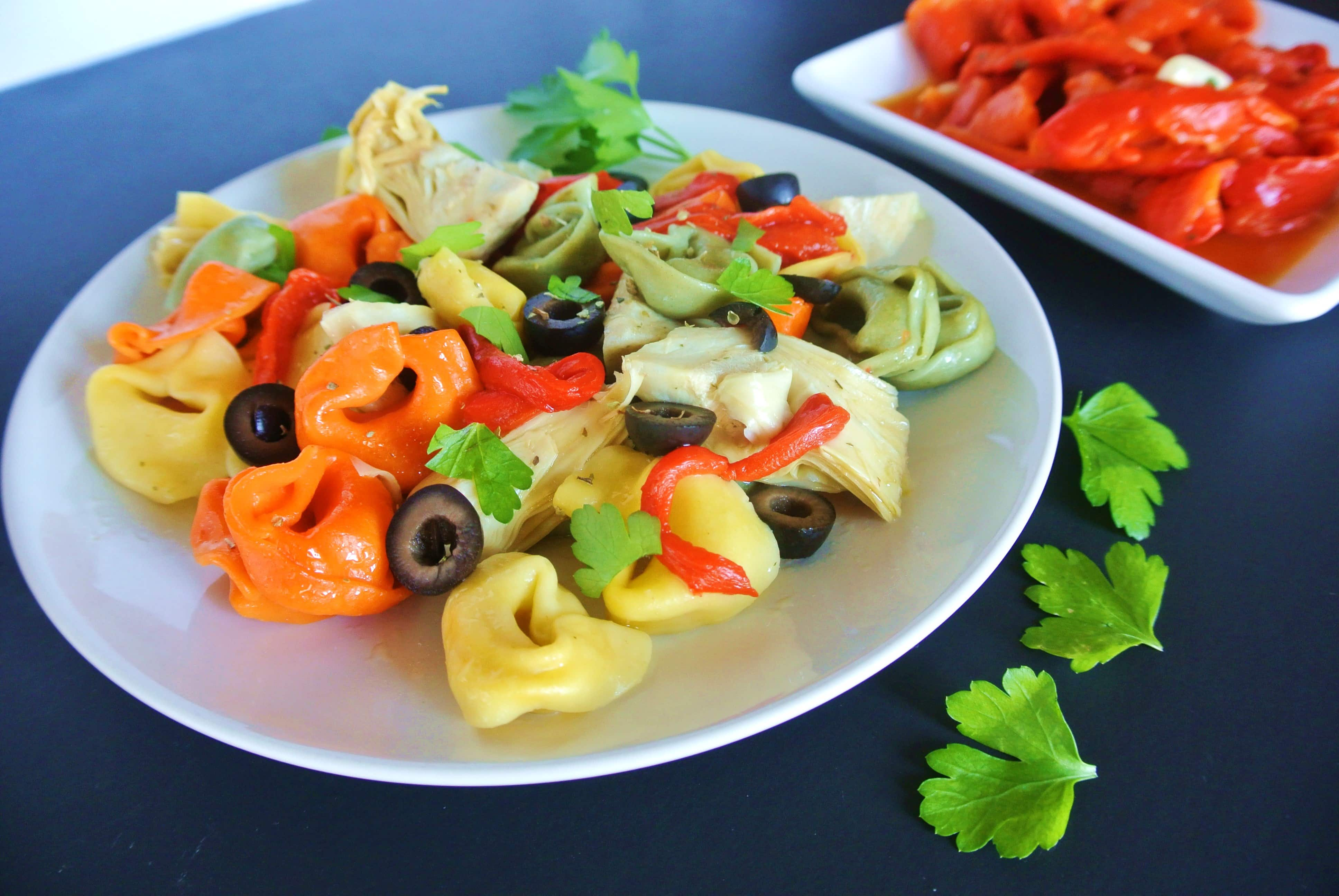 Easy Italian Antipasto Tortellini Pasta Salad