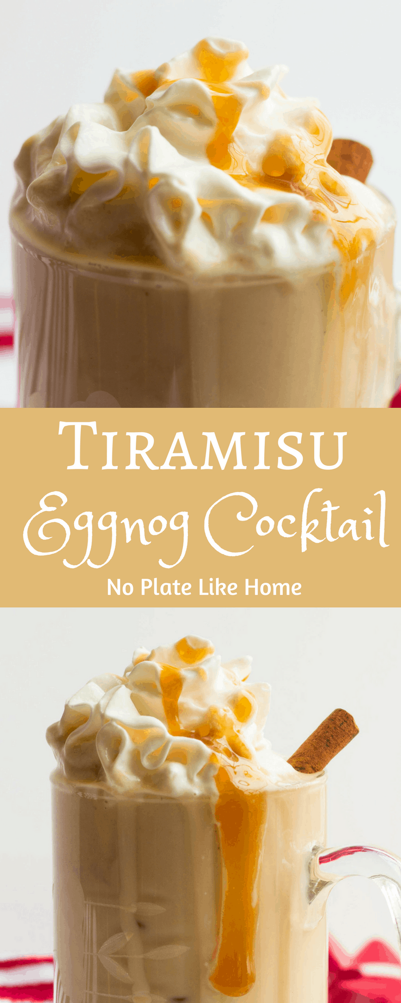Tiramisu Eggnog Cocktail