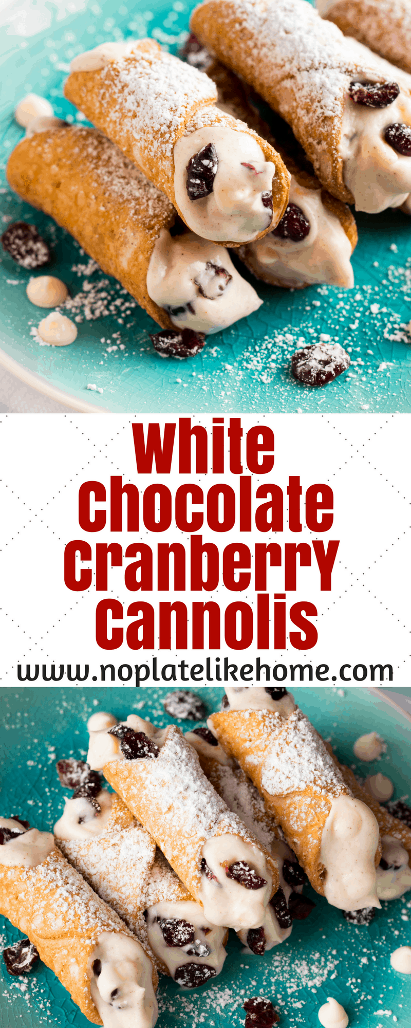 White Chocolate Cranberry Cannoli