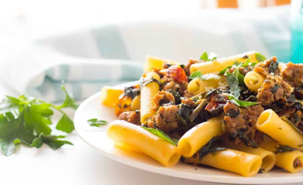 Italian Sausage and Spinach with Ziti