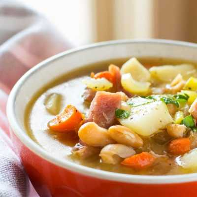 One Pot Ham and Bean Soup with Potatoes