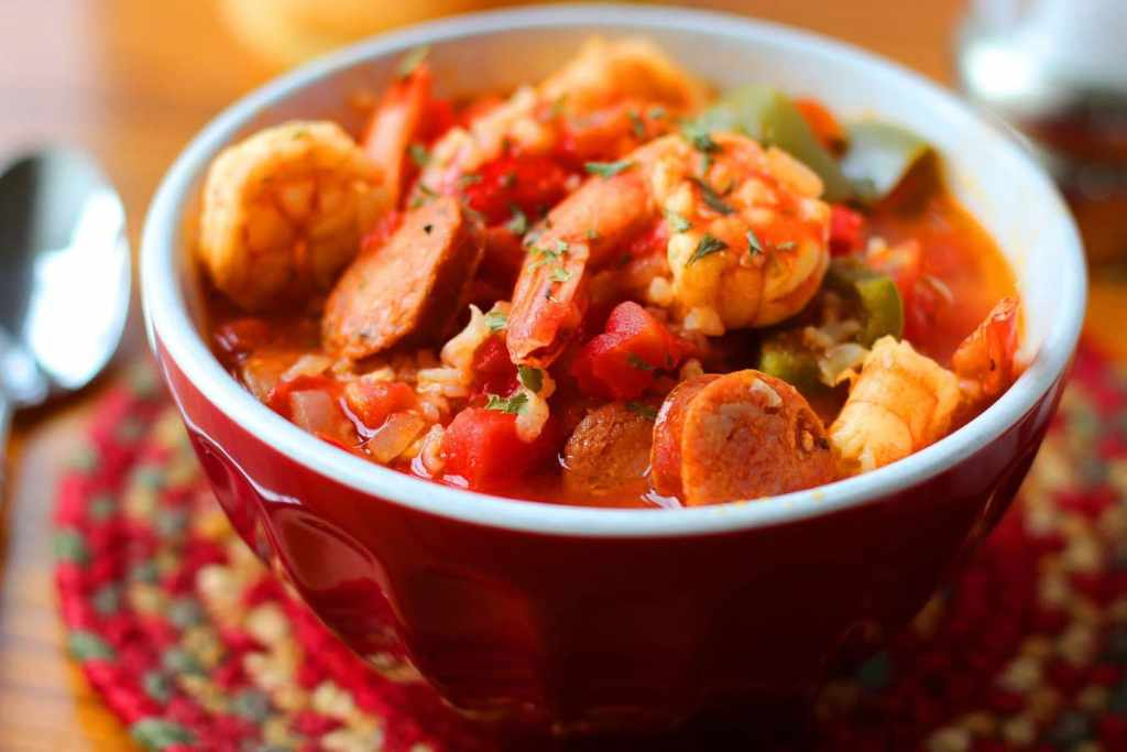 One Pot Spicy Shrimp and Sausage Jambalaya Recipe