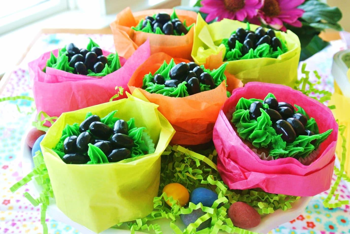 Bunny Poop Cupcakes