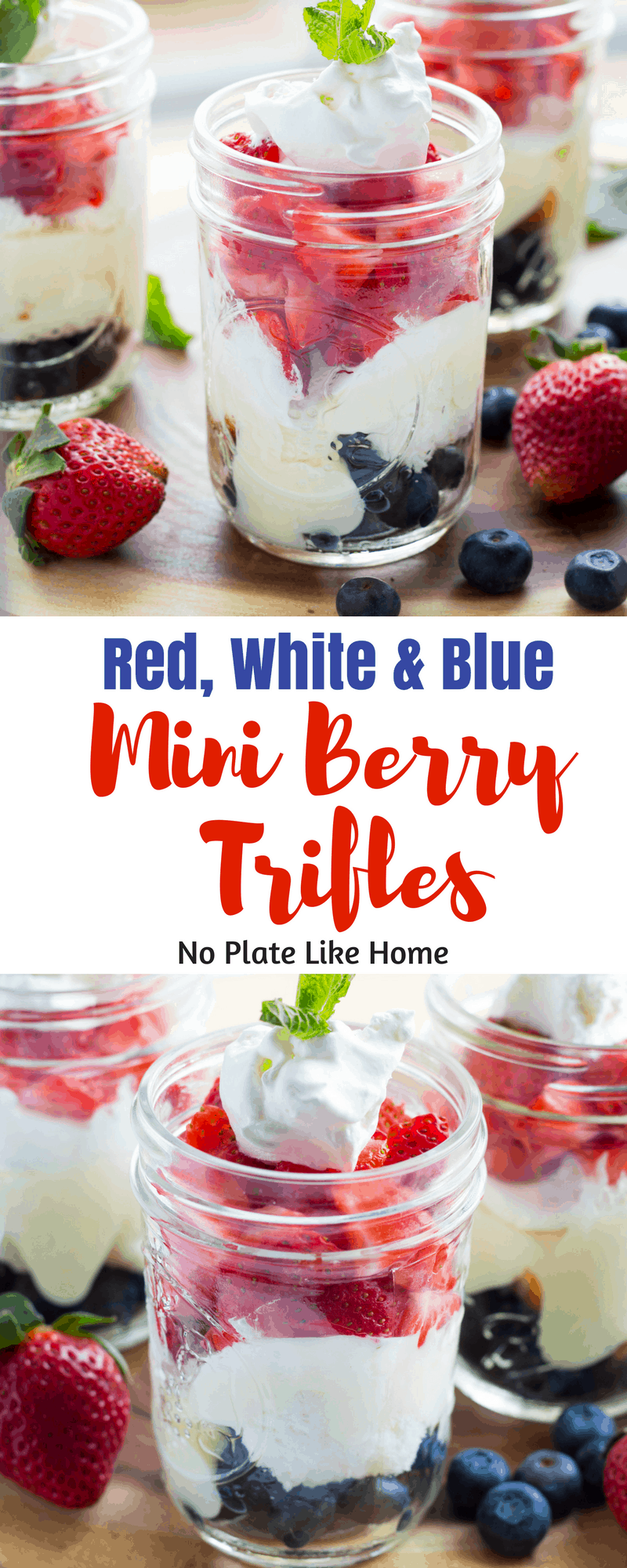 Red White & Blue Mini Berry Trifles