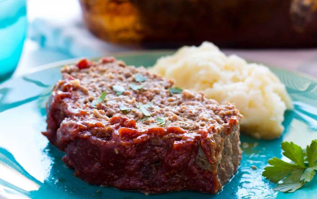 Spicy BBQ Meatloaf with Smoky Sweet BBQ Sauce Topping