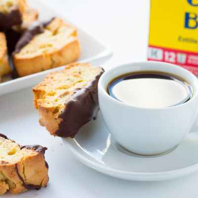 Chocolate-Dipped Amaretto Biscotti