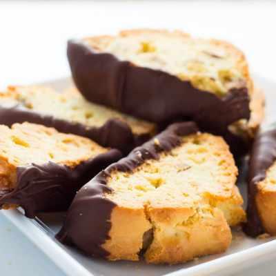 Delicious Chocolate-Dipped Amaretto Biscotti