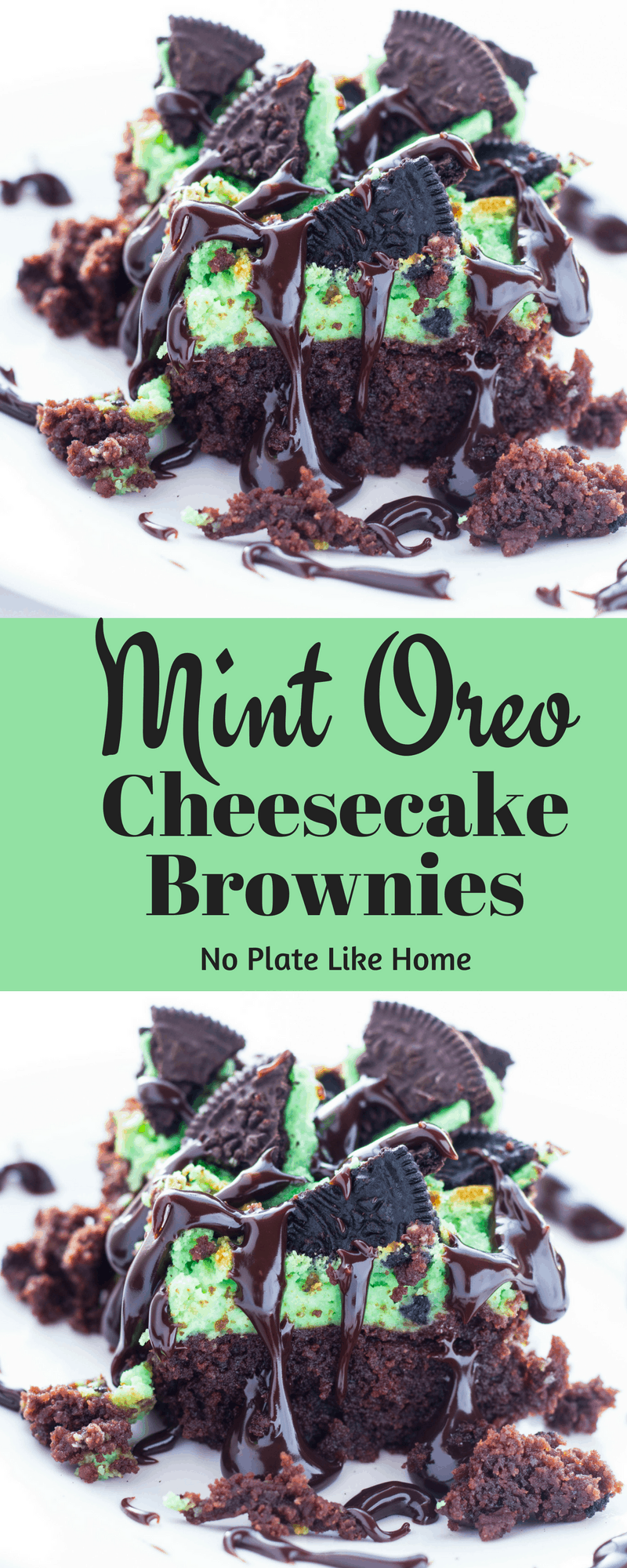 Mint Oreo Cheesecake Brownies