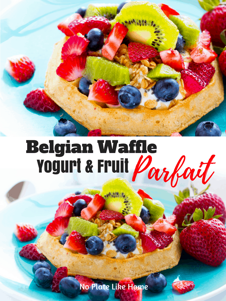 Belgian Waffle Yogurt and Fruit Parfait