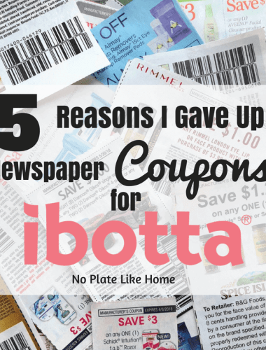 5 Reasons I Gave Up Newspaper Couons for Ibotta