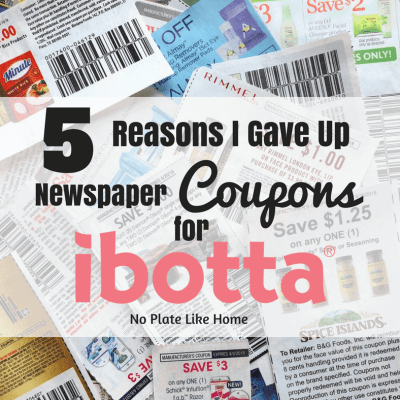 5 Reasons Why I Gave Up Newspaper Coupons for Ibotta