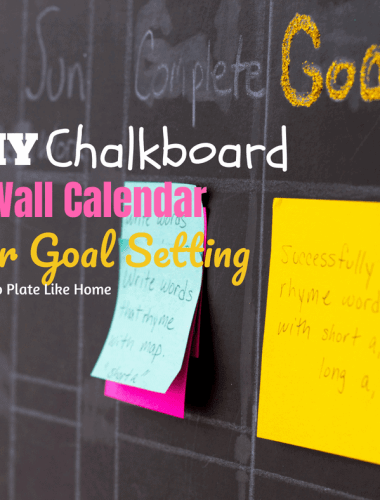 DIY Chalkboard Wall Calendar for Goal Setting